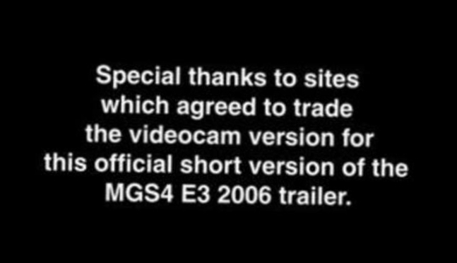 Видеоклип  MGS4 E3 2006 Trailer (Cut Version).